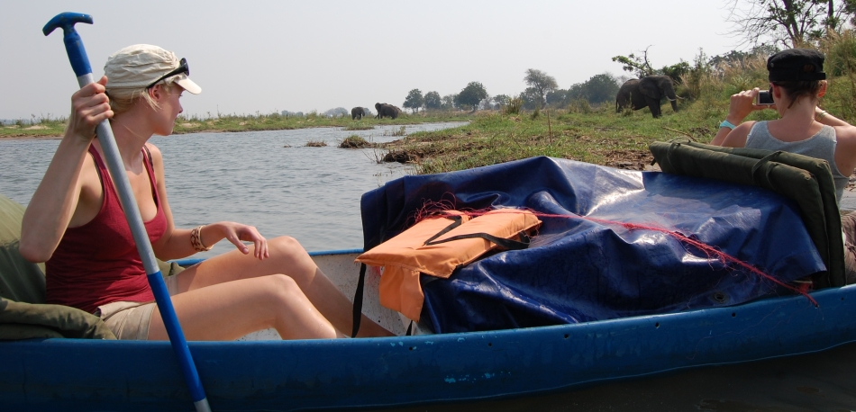 Two night canoe adventure on the Zambezi River