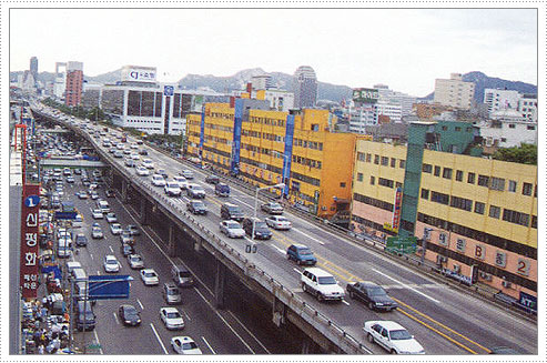 Seoul's traffic congestion before World Design City