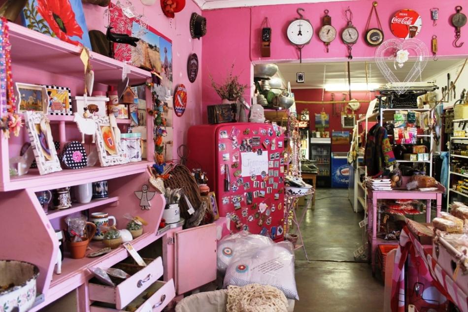 Seriously, everything is pink inside Die Pienk Padstal!