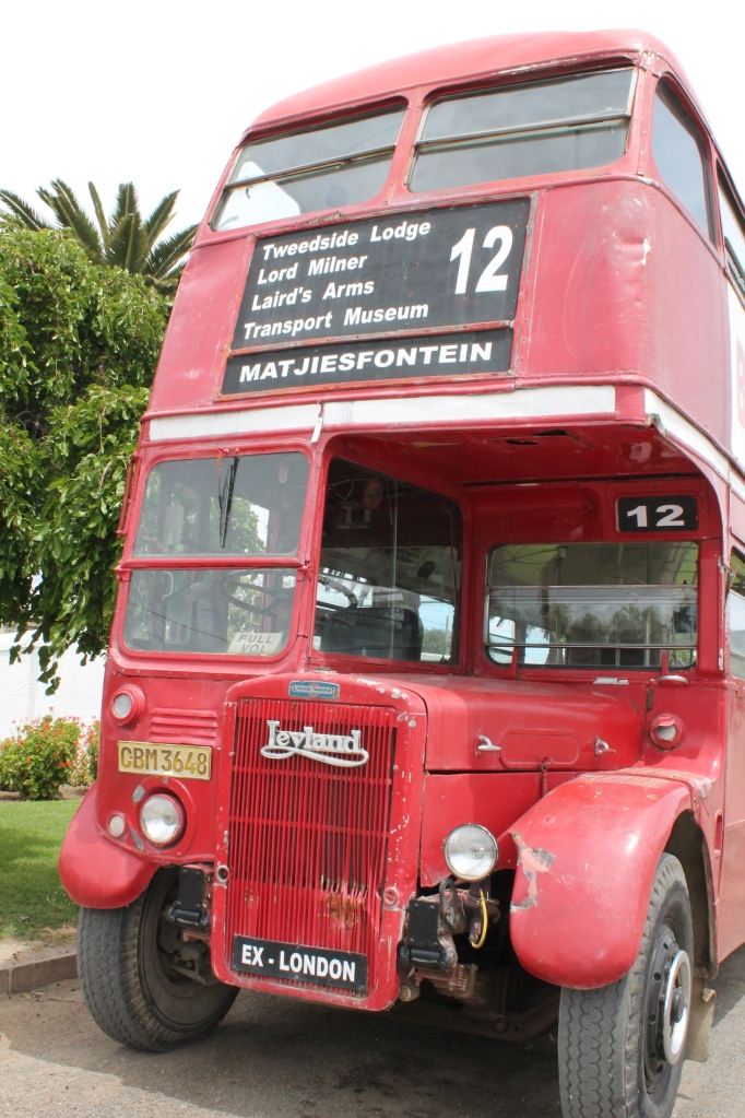 The London Bus in Matjiesfontein
