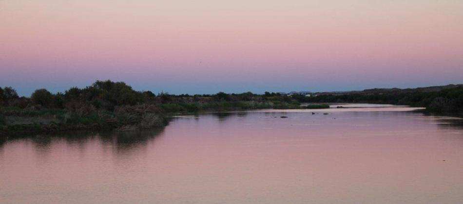 Orange River sunrise, magical!