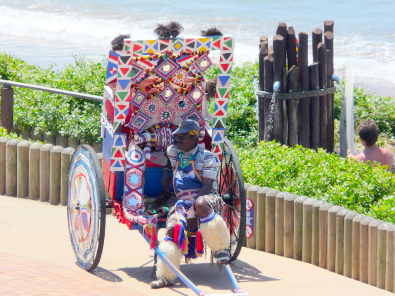 Hitch a ride with a Riksha in Durban!