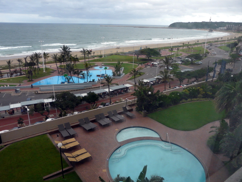 View from Garden Court South Beach Hotel in Durban, pre-departure