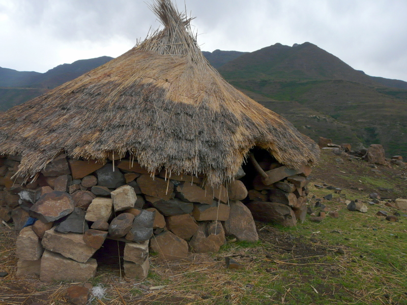 A more traditional Basotho hut