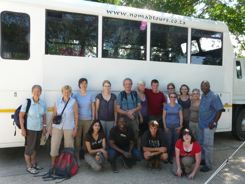 My tour family with truck Ella and guides Johannes, Rimson and Sven