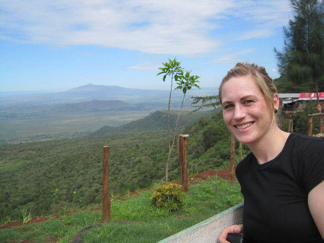 Caroline at the Great Rift Valley