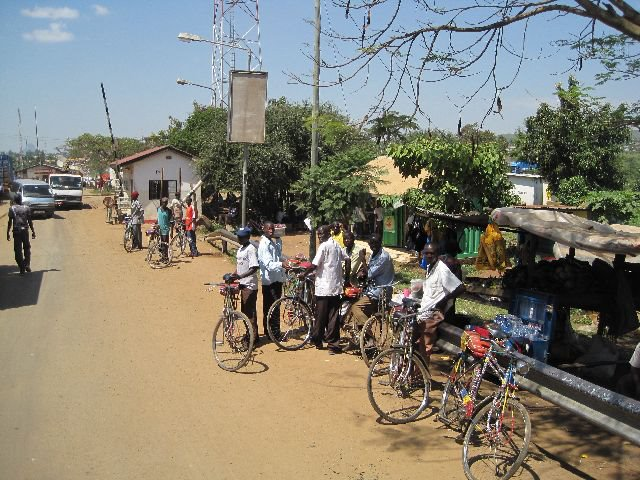 At the border between Kenya and Uganda