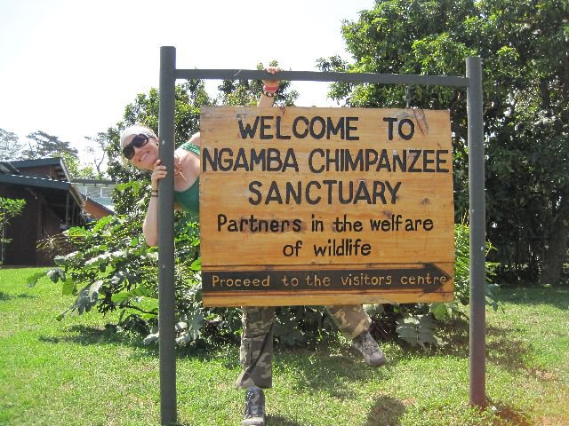 Arriving at Ngamba Chip Sanctuary