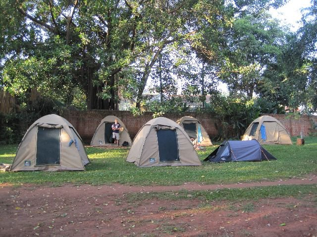 Our Campsite in Kampala